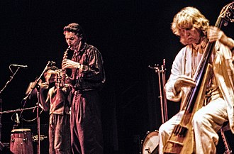 Jan Garbarek - Garbarek with Eberhard Weber and Nana Vasconcelos in Vancouver, Canada 1987.