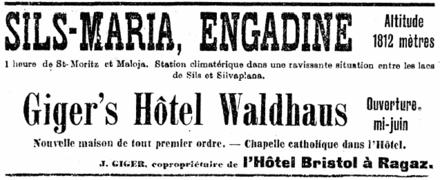 Hotel Sils Maria Svizzera