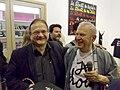 Jean-Pierre Lorriaux (Galerie Artitude) avec l'artiste Ben Vautier à la Galerie Laurent Strouk - IMGP9821.JPG