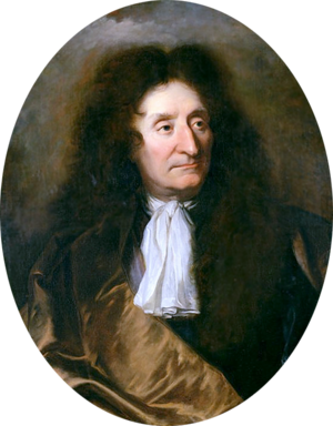 Jean de La Fontaine - Portrait by Hyacinthe Rigaud (private collection)