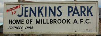 Millbrook A.F.C. - 'Welcome to Jenkins Park', the home of Millbrook A.F.C.