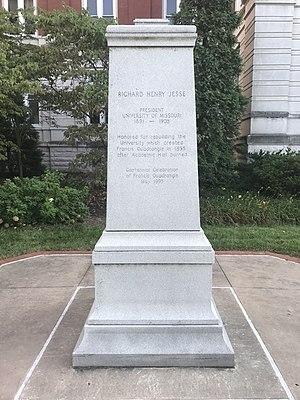 Richard Henry Jesse - Image: Jesse marker at Mizzou (north side)