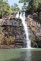 Jeune homme sautant des cascades de Tanougou 2 (Bénin).jpg