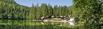 Municipality of Jezersko - Pasture Lake (Planšarsko jezero), an artificial lake in Jezersko
