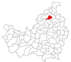 Vị trí của Jichisu de Jos