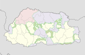Jigme Dorji protected area location map.png