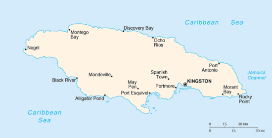 Parts Of Jamaica >> List Of Cities And Towns In Jamaica Wikipedia