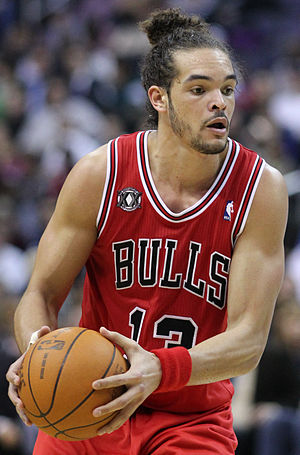 2014–15 Chicago Bulls season - Joakim Noah threw out a couple of ceremonial first pitches at White Sox and Cubs games.