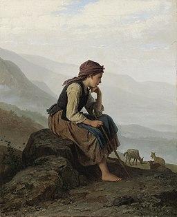 Johann Georg Meyer von Bremen - Die Ziegenhirtin