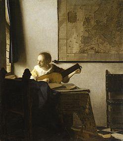 Johannes Vermeer - Woman with a Lute near a Window - WGA24655