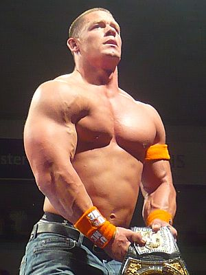 English: This is John Cena at the RAW Wrestlem...