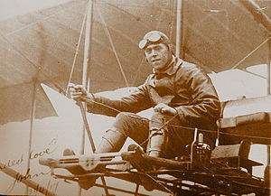 "John Rutherford Gordon - Gordon at the controls of a Grahame-White ""Boxkite"", Point Cook, Victoria, 1917"
