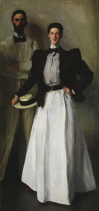 Isaac Newton Phelps Stokes - I.N. Phelps Stokes standing behind his wife Edith née Minturn, (painting by John Singer Sargent, 1897)