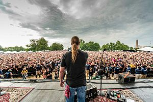 Johnny Dare - Johnny Dare addresses the crowd at Rockfest 2012