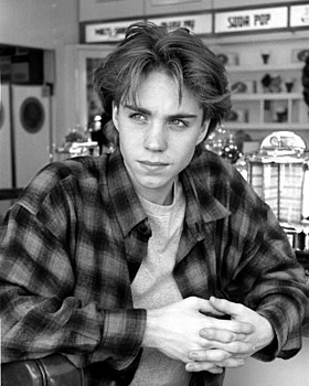 Grunge-style flannel shirt and curtained hair Jonathan Brandis Wiki.jpg