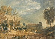 Ingleborough from Chapel-Le-Dale', c. 1810-15, watercolor on paper, Yale Center for British Art