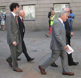 Bob Hill (politician) - Bob Hill (2nd from left) in procession, Liberation Day 2011