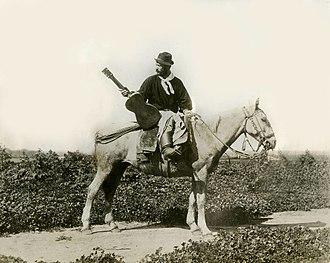 Payada - Juan Arroyo, Argentine payador, c. 1870.
