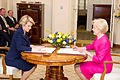 Julie Bishop being sworn in as Foreign Minister by Quentin Bryce 03.jpg