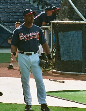 Julio Franco - Franco with the Atlanta Braves in 2002