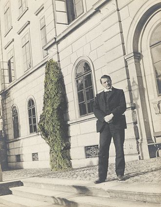 Jungian archetypes - Carl Jung standing in front of Burghölzli clinic, Zurich 1909