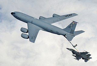 Aerial refueling Procedure in which flying aircraft receive fuel from another aircraft