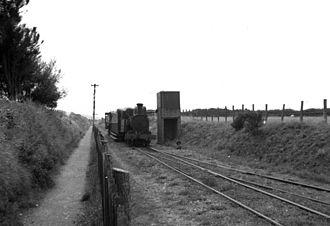 Kirk Michael railway station - Approaching