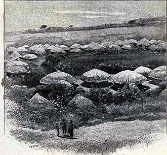 Kraal - A typical kraal near Bulawayo in the 19th century.