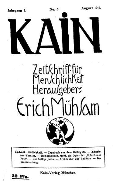 File:Kain – Zeitschrift für Menschlichkeit 1-5.djvu