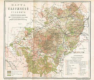 Kaluga Governorate - Map