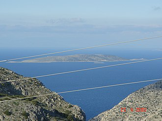 Kalolimnos - The island of Kalolimnos viewed from Kalymnos