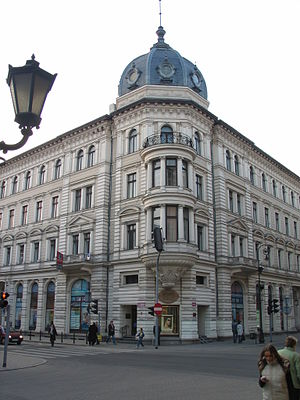 Piotrkowska Street - Historic apartment building of the Scheibler family