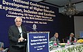 Kapil Sibal delivering the Valedictory address on the occasion of National Conference of Vice Chancellors on Development of Higher Education, in New Delhi on October 11, 2007.jpg