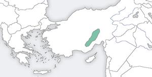 Karamanlides - The range of the ancestral homeland of the Karamanlides.