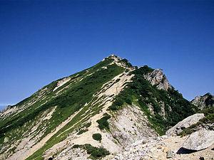唐松岳頂上山荘付近から(2008 ... : 日本の山脈地図 : 日本