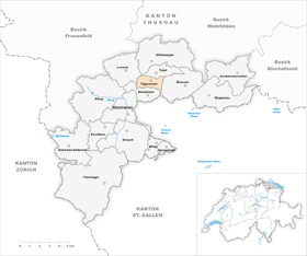 Karte Gemeinde Tägerschen 1998