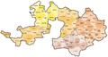 Karte Gemeinden des Kantons Basel-Landschaft farbig 2011.png