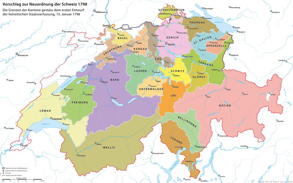 Karte Helvetik 1