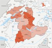 Karte Kanton Bern Verwaltungskreise 2010