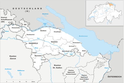 Map of Thurgau