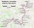 Karte der Straßenbahn Jerusalem (topographisch).png