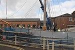 Kaskelot (ship, 1948) in dry dock having new mast 2.JPG