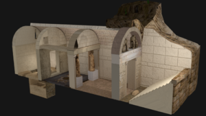 Kasta Tomb - 3D representation of the tomb structure