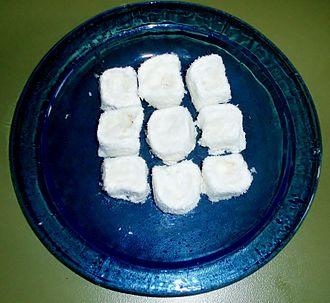 Afyonkarahisar - Kaymak lokum, Turkish delight of cream, a speciality of Afyonkarahisar.