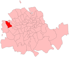 Kensington North (UK Parliament constituency) - Kensington North in the Metropolitan area from 1885-1918