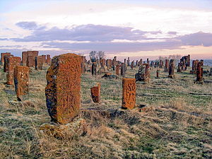 Khachkar - Khachkars appear in large numbers in the Noratus cemetery.