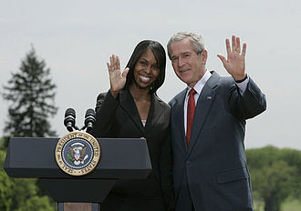 National Teacher of the Year - 2006 Teacher of the Year, Kimberly Oliver, with President George W. Bush.