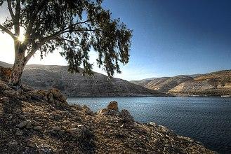 Jerash Governorate - Image: King Talal Dam, Jordan