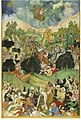 King prithu chased behind Prithvi disguise as cow in sky.jpg