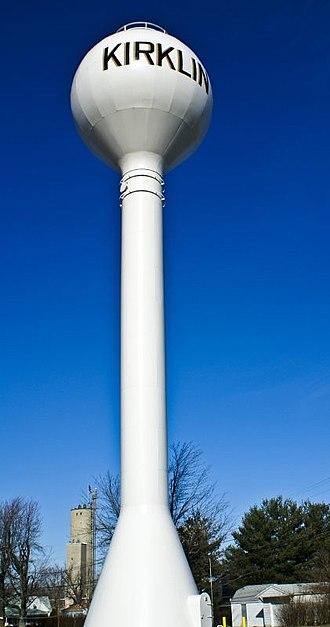 Kirklin, Indiana - Kirklin water tower